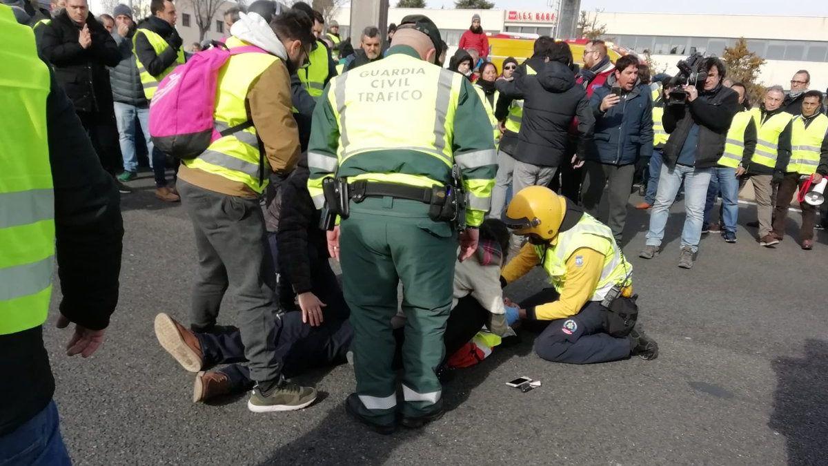 Un taxista muy grave tras ser atropellado por un conductor de VTC