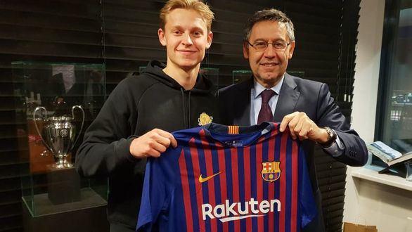El FC Barcelona ficha a la perla del Ajax de Amsterdam, Frenkie de Jong