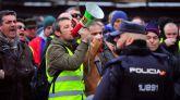 Los taxistas madrileños cortan la Gran Vía en su décimo día de huelga