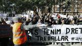 Trabajadores de VTC protestan en Barcelona