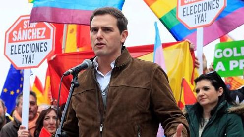 Albert Rivera, en la plaza Colón en el acto por la unidad de España