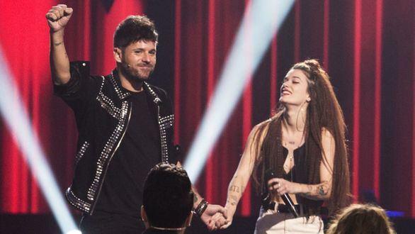 Pablo López cerró su grupo con Sandra Groove en las penúltimas audiciones de 'La Voz'.