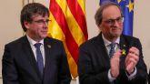 Torra y Puigdemont: la UE es un 'títere' de la derecha y Borrell