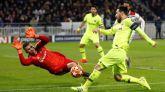 La pobre puntería del Barcelona perdona al Lyon en un tiroteo | 0-0