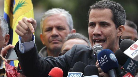 El jefe del parlamento venezolano, Juan Guaidó, este miércoles.