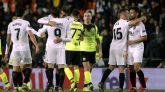 El Valencia, ante diez, logra un pase cómodo  1-0