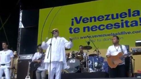 Miguel Bosé, en el concierto Venezuela Aid Live: