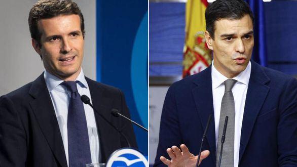 El PP reta al PSOE a un cara a cara entre Casado y Sánchez