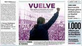 Los diarios retratan a Pablo Iglesias con su cartel populista