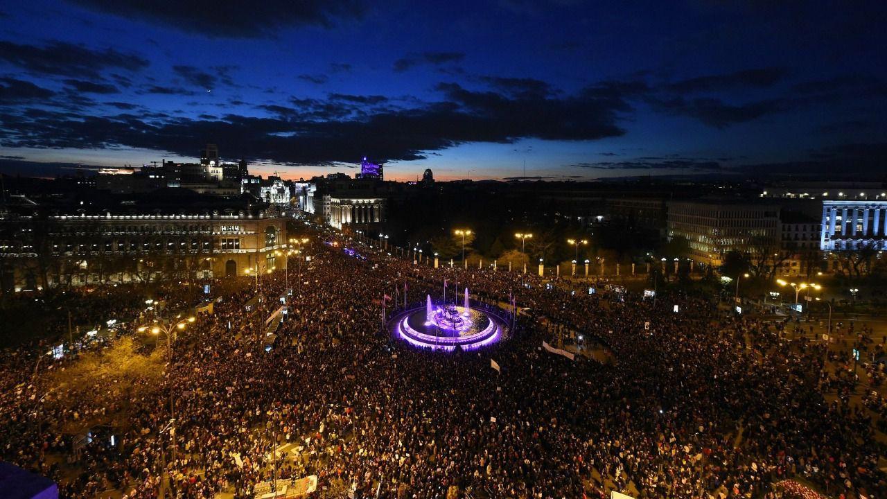 PSOE y Podemos utilizan la huelga feminista para atacar a PP, Cs y Vox