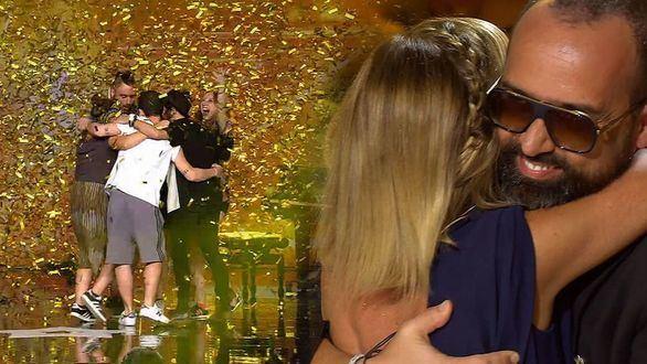 Risto Mejide y Eva Isanta dieron su 'Pase de oro' conjunto a la semifinal de 'Got Talent España' a Bat the Beat.