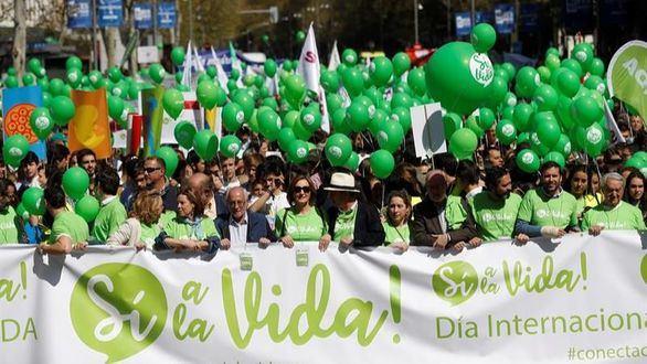 El PP se une a Vox en una manifestación bajo el lema 'Sí a la Vida'
