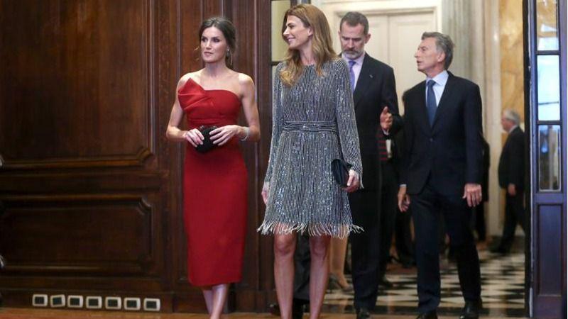 Recepción oficial de los Reyes en honor de Mauricio Macri y Juliana Awada