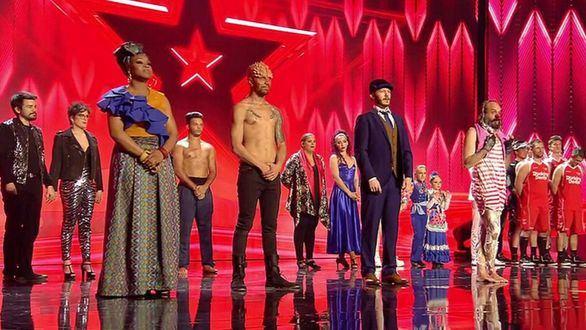 Los primeros finalistas de 'Got Talent España', reunidos sobre el escenario.