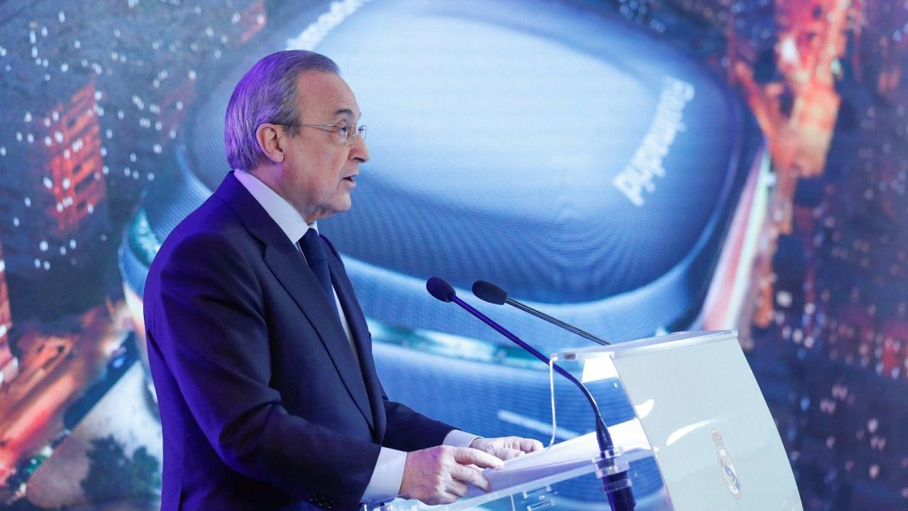 Florentino Pérez presenta el nuevo Bernabéu: