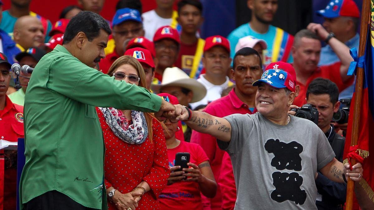 Maradona, investigado en México por atacar a Trump y apoyar a Maduro