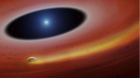 Hallado un planeta moribundo orbitando a su estrella