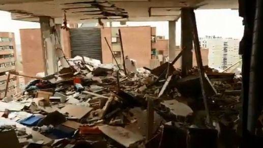 Dieciséis heridos en una explosión en un piso de Puente de Vallecas