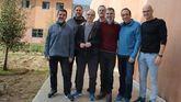 Los siete dirigentes independentistas presos en la cárcel de Lledoners (Barcelona).