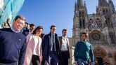 El candidato del PP, Pablo Casado, en Burgos