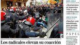 Críticas a Sánchez por callarse ante el acoso separatista