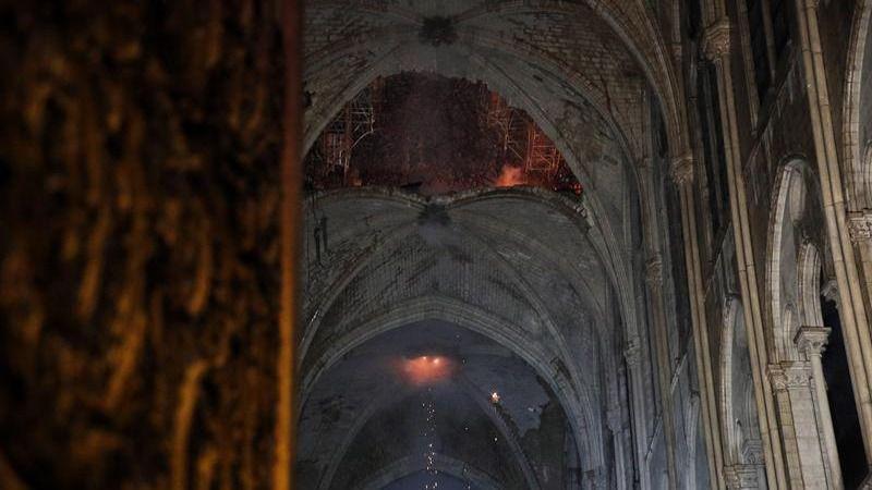 Imágenes del incendio en la catedral de Notre Dame