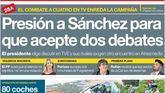 El desplante de Sánchez por querer un debate a su medida