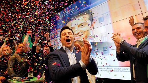 Los sondeos a pie de urna convierten en presidente de Ucrania al cómico Zelenski