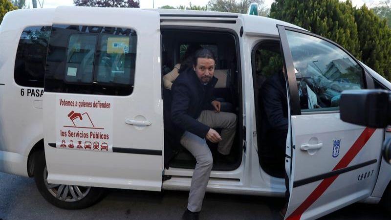 Así han llegado: Iglesias pide un taxi para ir al debate