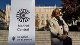 La alcaldesa de Madrid, Manuela Carmena , asiste a un acto de arranque de Madrid Central.