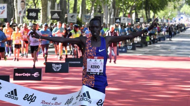 Maratón de Madrid. Kerio e Insermu se imponen y destrozan los récords