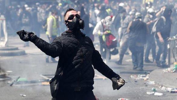 El 1 de mayo en París: protesta de los 'chalecos amarillos' y 248 detenidos