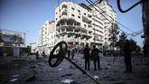 Ataque de Israel a posiciones palestinas.
