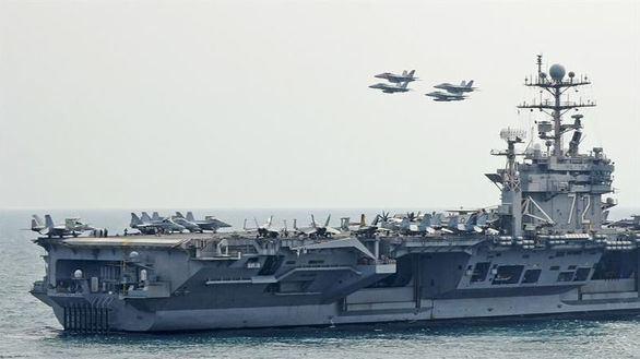 El portaaviones norteamericano USS Abraham Lincoln, desplegado en el Golfo Pérsico, en una imagen de archivo.