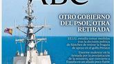 ABC afea al Gobierno la retirada de la fragata Méndez Núñez