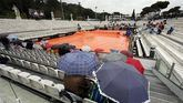 Masters Roma. La lluvia aplaza el debut de Rafa Nadal, Djokovic y Roger Federer