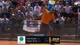 Masters Roma. Kyrgios monta un lío y Federer y Djokovic sobreviven