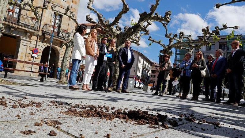 Abertzales navarros lanzan estiércol a Cayetana Álvarez de Toledo