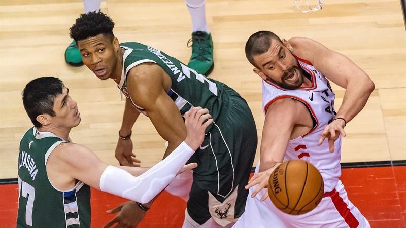 NBA Playoffs. Los Raptors de Marc Gasol se la devuelven a los Bucks y empatan