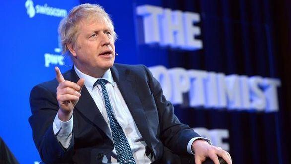 El conservador Boris Johnson, este viernes en el Foro Económico de Suiza.