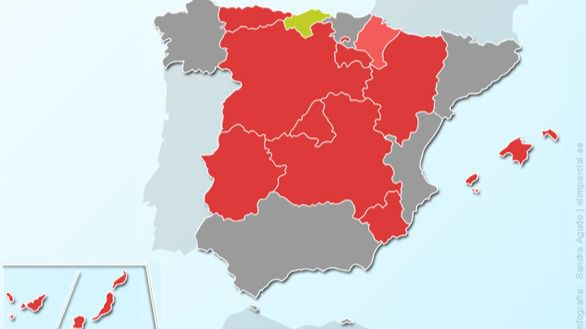 El PSOE gana en diez comunidades autónomas, pero sólo tiene aseguradas cinco