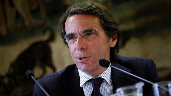 El expresidente del Gobierno y presidente de la Fundación FAES, José María Aznar, este martes.