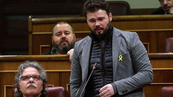 Rufián prevé elecciones en Cataluña en febrero, tras el juicio del 1-O