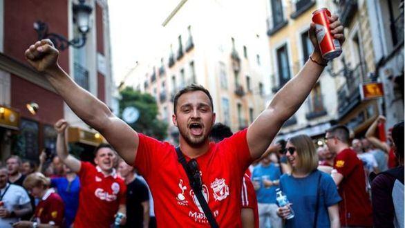 Hincha del Liverpool en Madrid para la final de la Champions
