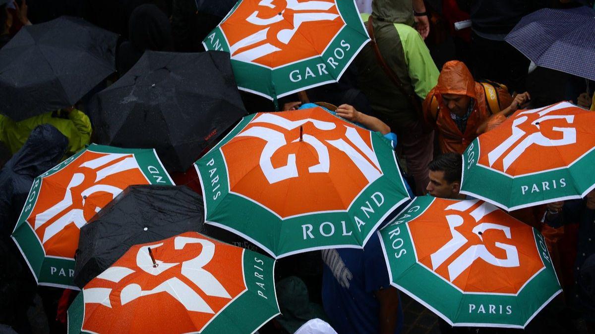 Roland Garros. La lluvia obliga a suspender todos los partidos de la jornada