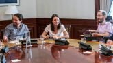 El secretario general de Podemos, Pablo Iglesias, el aún secretario de Organización, Pablo Echenique, y la 'número dos' del partido, Irene Montero.