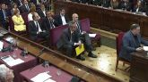 El exvicepresidente de la Generalidad, Oriol Junqueras, durante su turno de última palabra, este miércoles.