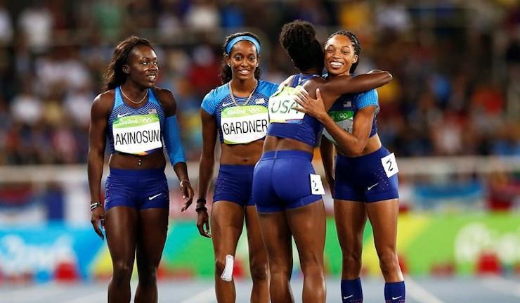Allyson Felix conquista en el relevo 4x100 su quinto oro olímpico