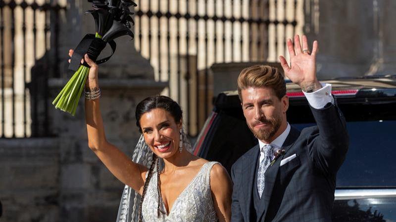 Sergio Ramos y Pilar Rubio se casan en la Catedral de Sevilla y paralizan la ciudad