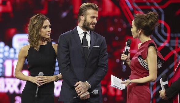 Los Beckham animan a los chinos al consumo frenético en 'El día del soltero'